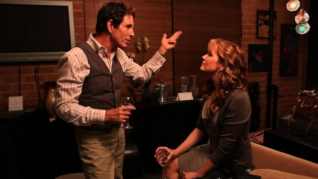 Lea Thompson and John Shea in The Trouble with the Truth