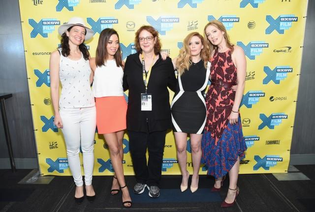 Fresno Premiere (Left to Right): Jamie Babbit, Aubrey Plaza, Janet Pierson (SXSW Film Festival Director), Natasha Lyonne and Judy Greer.